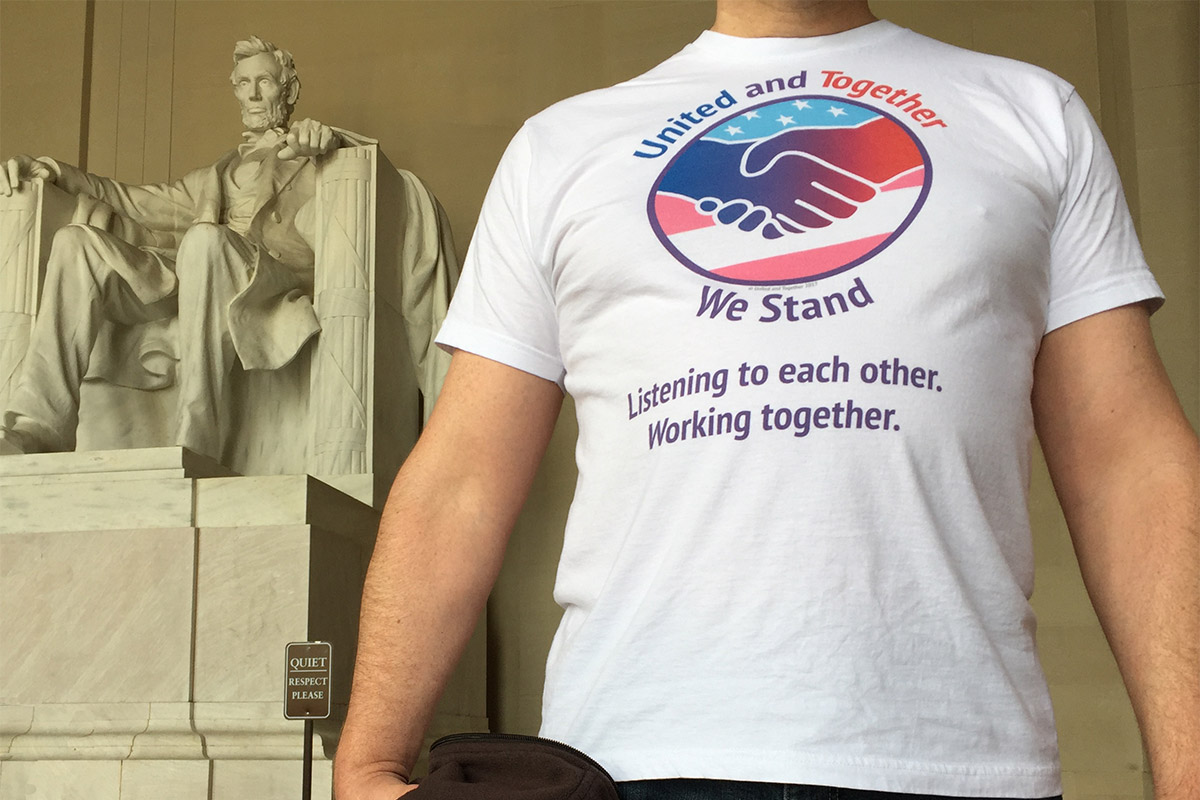 United And Together Visits The Lincoln Memorial
